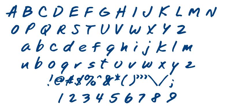 TomsHand font