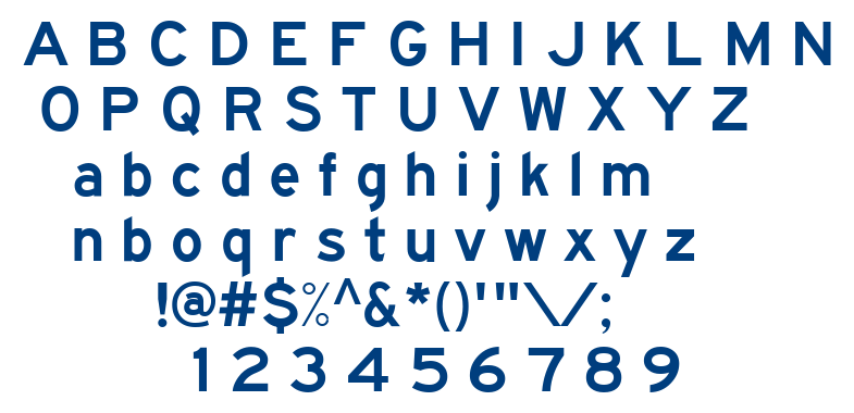Traffic 4 font