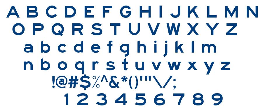 Traffic 5 font