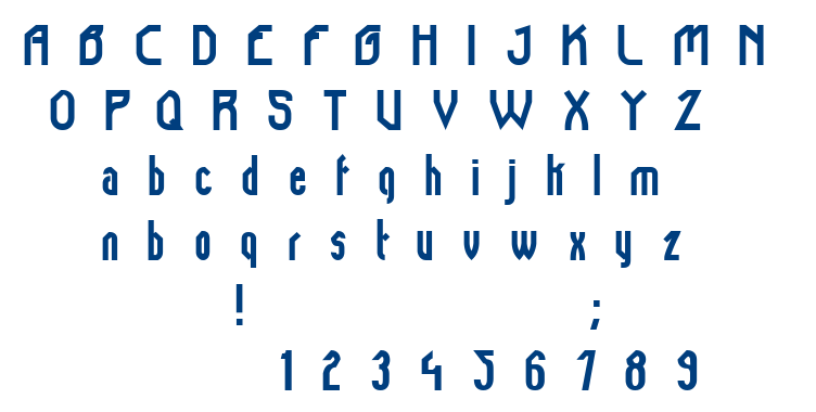 Tamiami font
