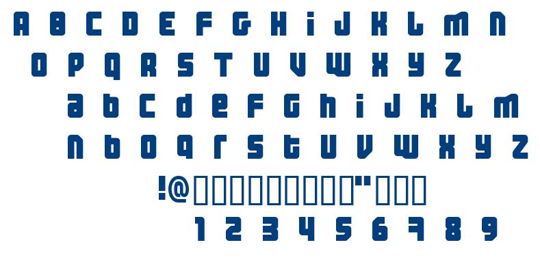 Three the Hard Way font