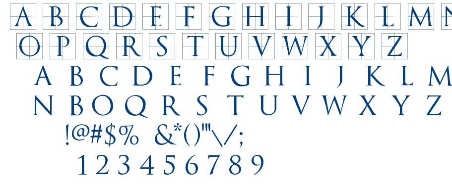 TrajanusBricks font