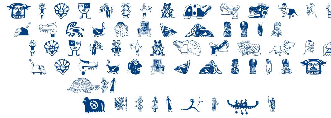 Tribalistica Figures font