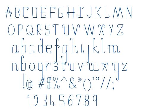 umbrella thin font
