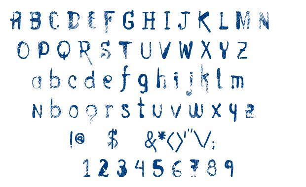 Vtks Entulho font