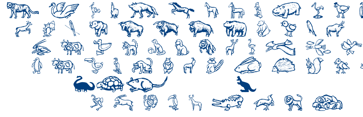 Zoo Woodcuts M font