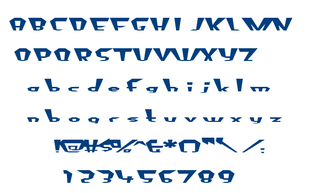 Fluoride Beings font