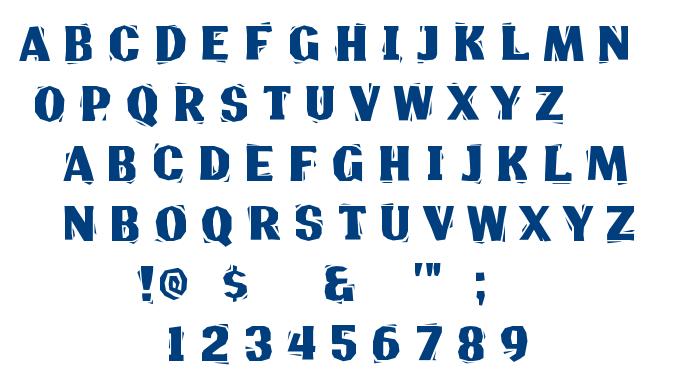 Lino Chisel font