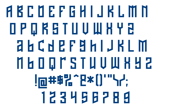 Naftalene font