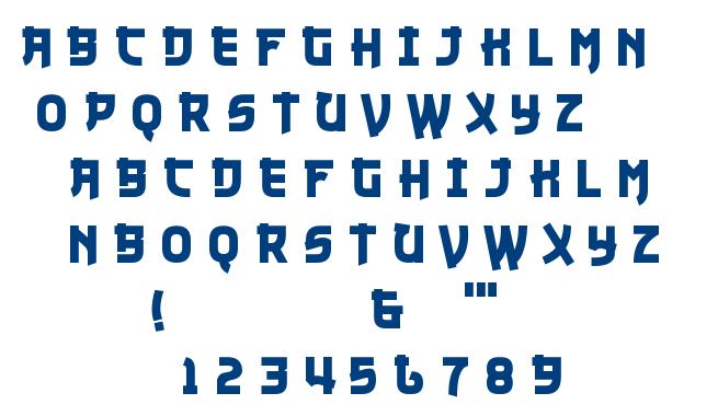 Nuku Nuku font