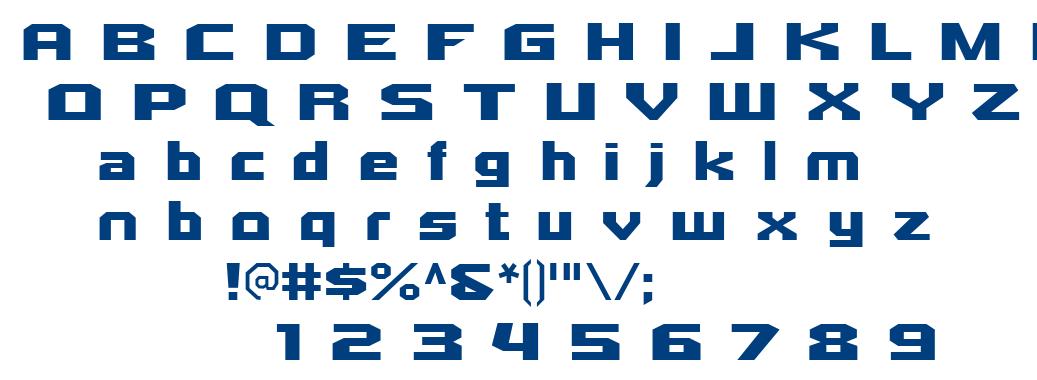 Quadrangle font