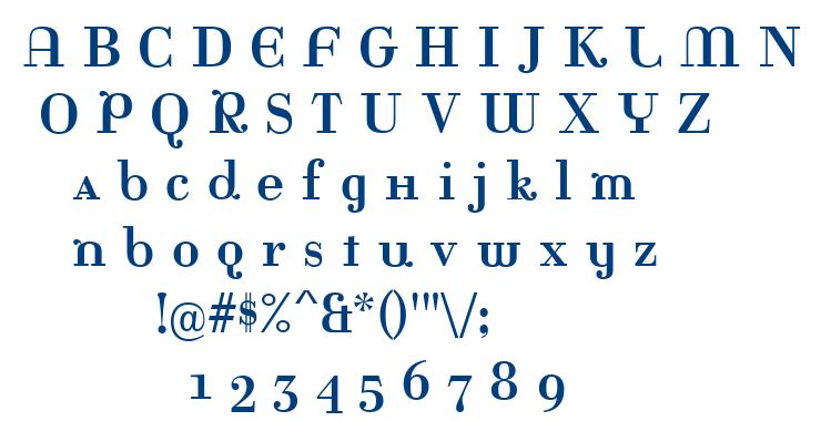 Rina font
