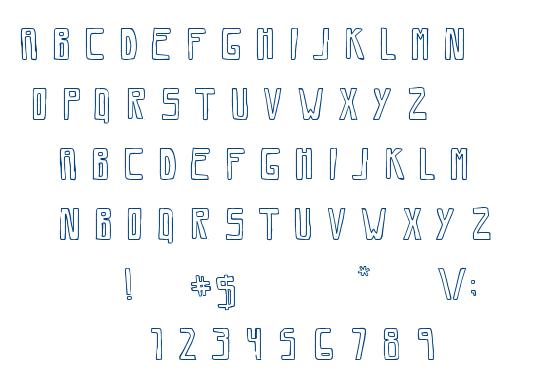 Savia Outline font