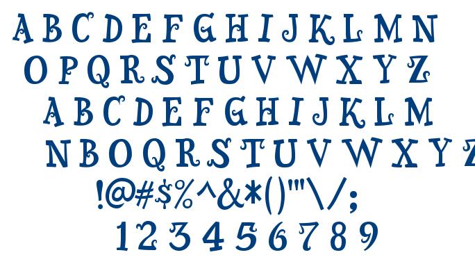 Snidely font