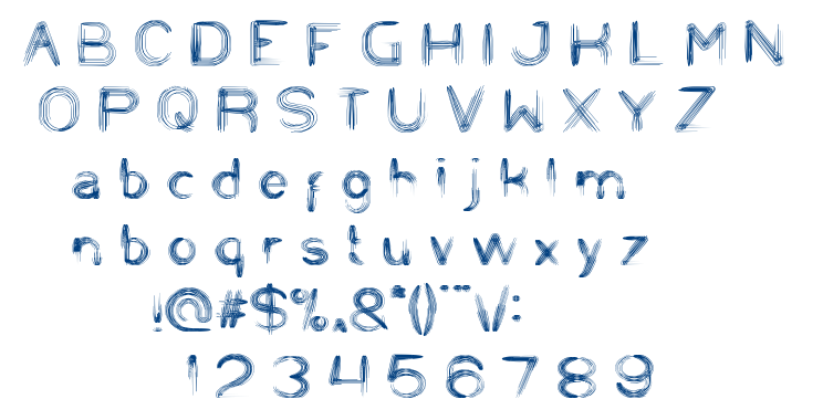 string and wire font