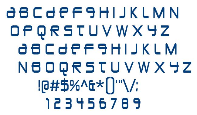 Union City Blue font