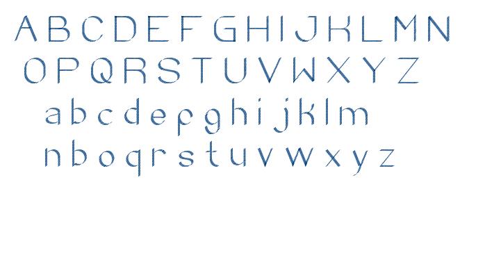 zebra cross font
