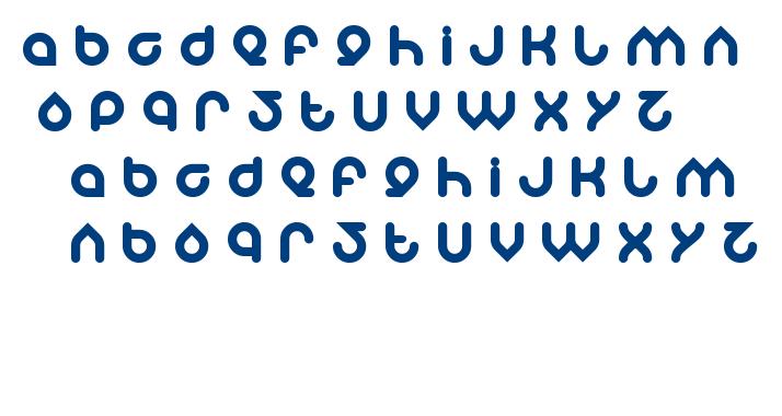 znow white font