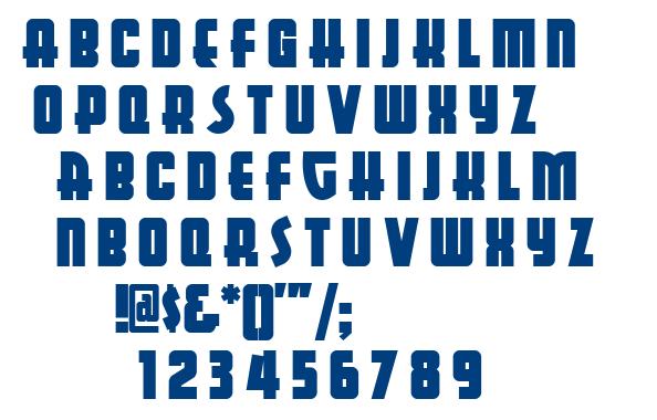 Aerojones NF font