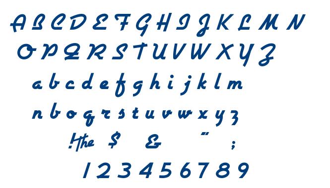 Airstream font