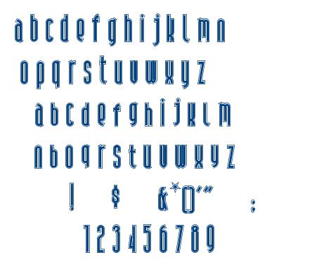 Andiron Outline font