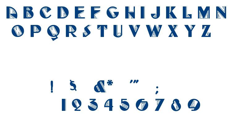 FULL TILT BOOGIE font