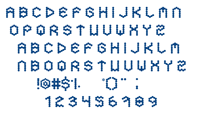 Hexa font