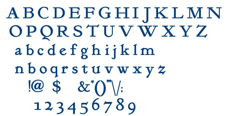 Kelmscott Roman font