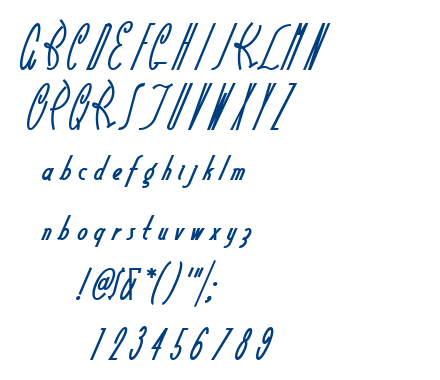 Little Rickey NF font