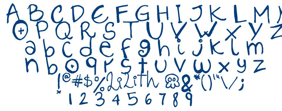 Lilith Script font