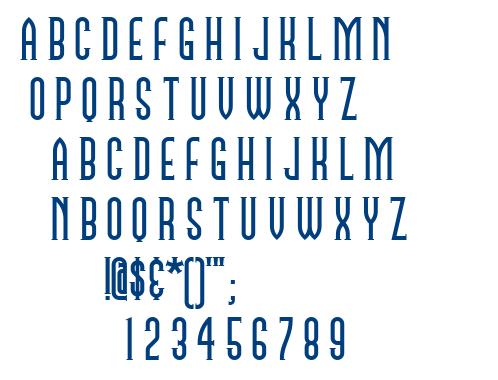 Namesake NF font