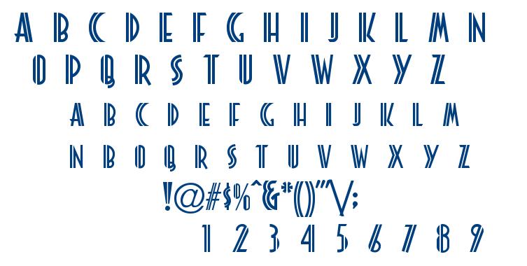 Platonick font