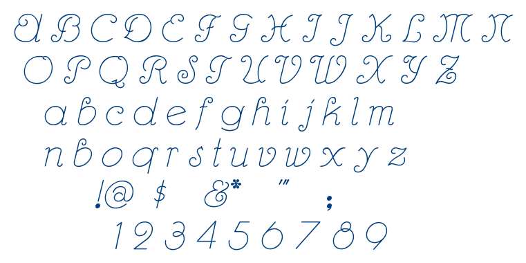 Rhumba Script font