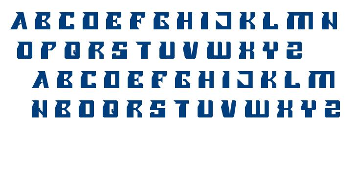 ROLLER BLADE font