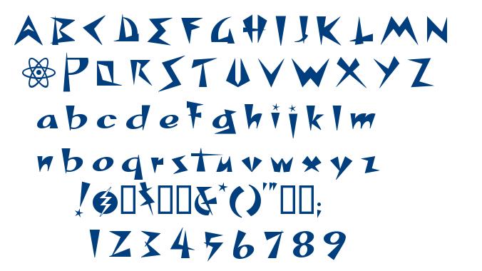 Space Patrol font