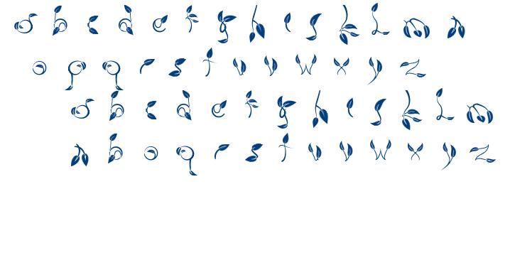 Dedaun font
