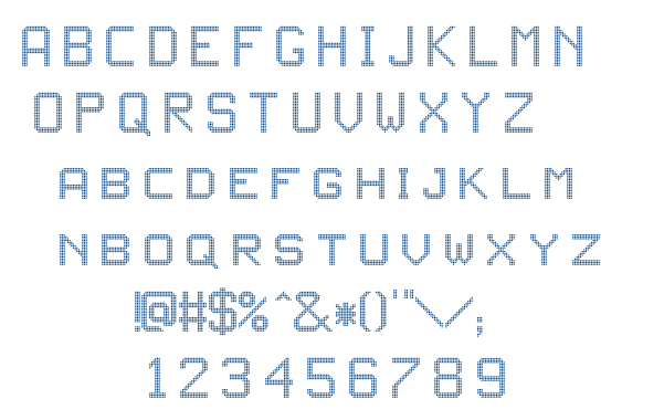 JD LED3 font