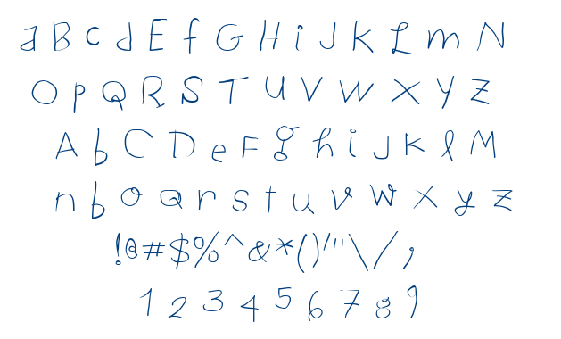 Child Written font