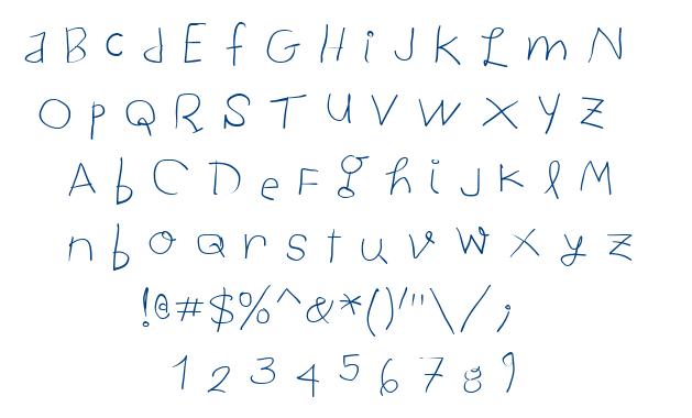 Child Written font