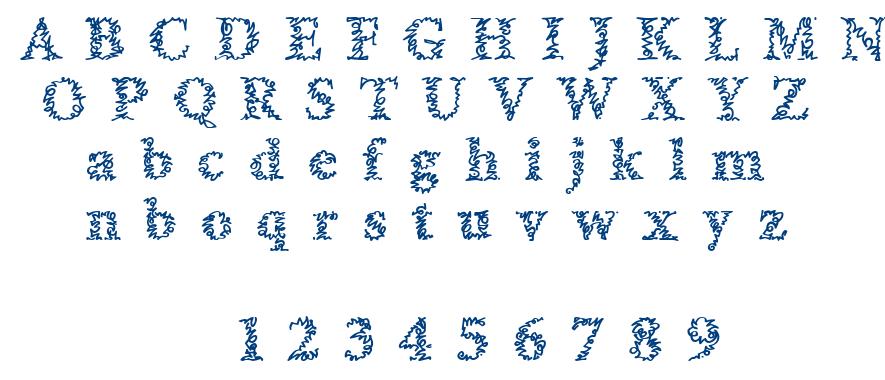 A Morris Line font