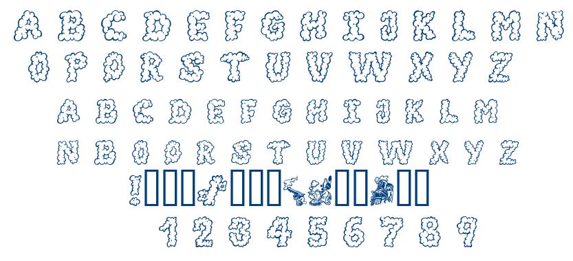 Alpha Smoke font