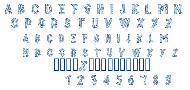 Alpha Wood font