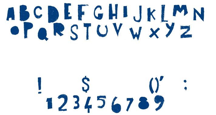 ART POST font