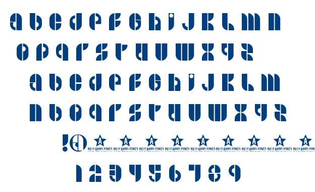B Side font