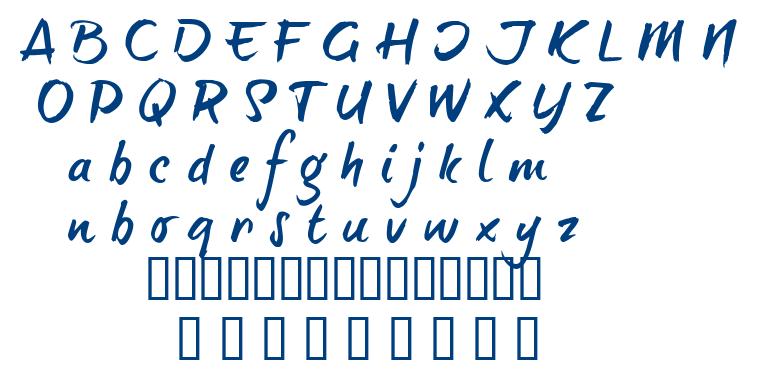 Brush Tip Terrence font