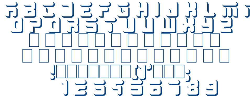 BIG WHITE font