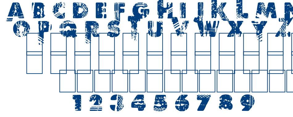 BORDER LINE font