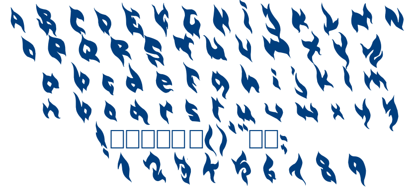 Burny font