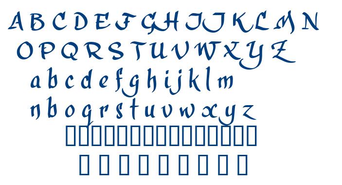 Calligra Phillip font
