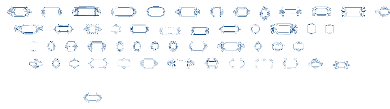Calligraphic frames soft fontm